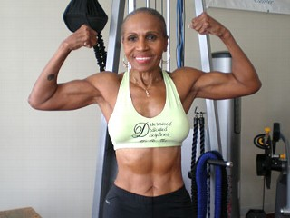 Photo: Body Building Grandma Ernestine Shepherd Bench Presses, Runs Marathons At 73 Years Young: Grandmother Up Every Day at 3 a.m.; 'I Feel Better Than I Did at 40'
