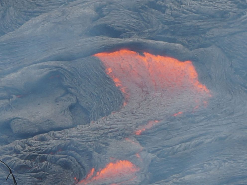 PHOTO: The lava flow from Kilauea volcano in Hawaii has advanced more than five football fields in the last 48 hours.