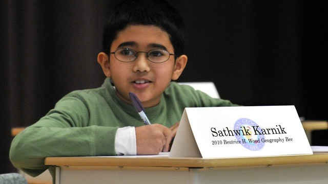 PHOTO: Sathwik Karnik, the winner of the 2013 National Geographic Bee, is pictured in 2010.
