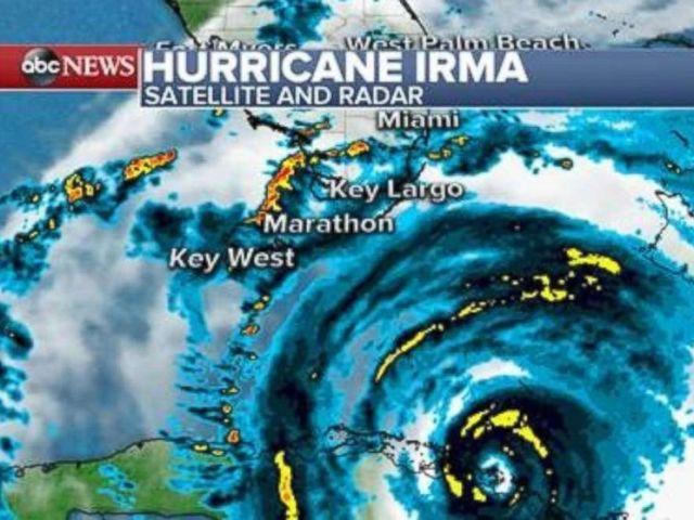 PHOTO: Hurricane Irma satellite and radar map.