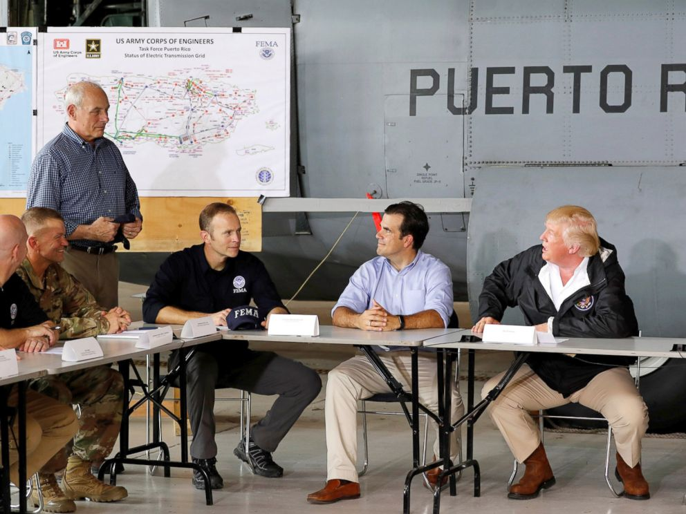 Image result for trump in Puerto Rico, photos