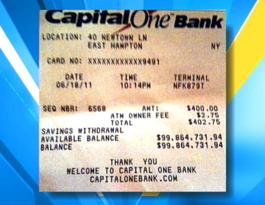 ATM receipt – Eideard
