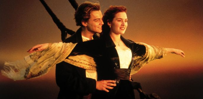 "PHOTO: Kate Winslet and Leonardo DiCaprio in the 1997 film ""Titanic."""