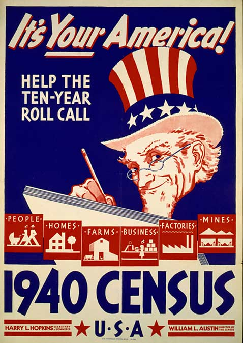 ap 1940 census poster ll 120319 vblog Snapshot of a Decade