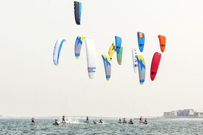 Kitesurfing activity in Qatar