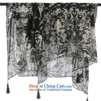 An Anthology CHEGEE hand-painted black and white silk ...