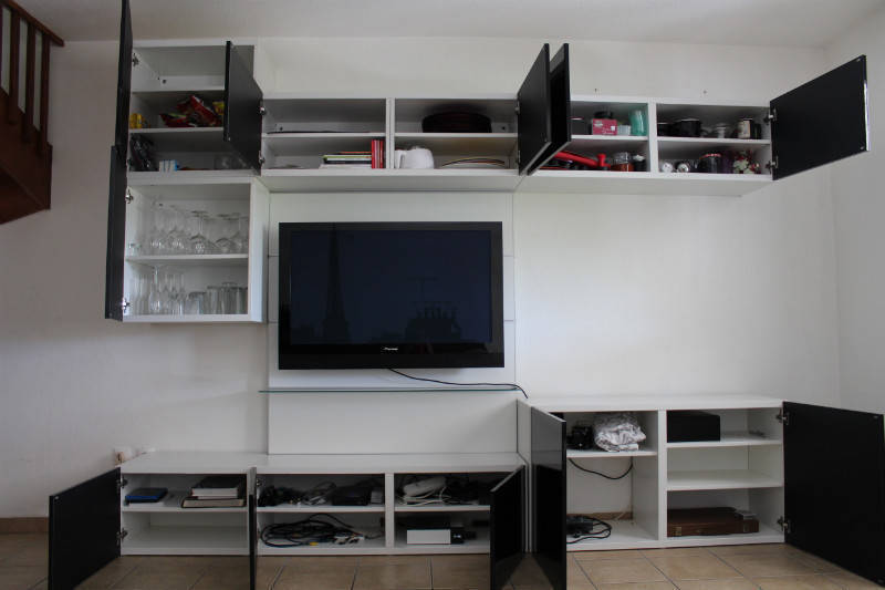 meuble tv etageres modulable ikea