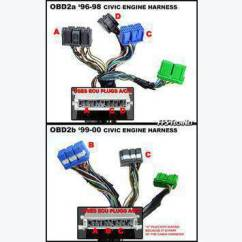 Obd2a To Obd2b Wiring Diagram Cell Organelles Vtec Harness Oem Schematic 96 98 Civic Ex Data Site Obd1 Looking A 1996