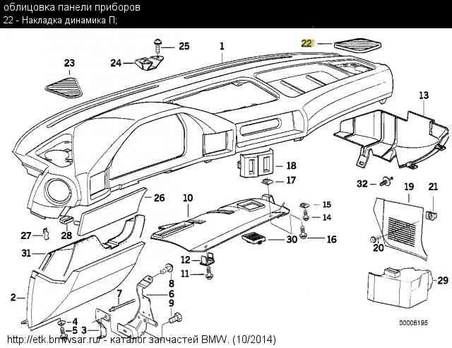 Накладка динамика правая — бортжурнал BMW 5 series