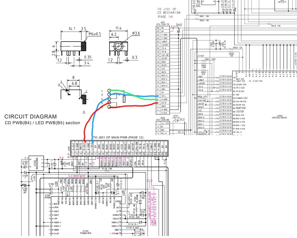 AUX to rd3-01 PU-2472B — logbook Citroen C5 HDI 2.2