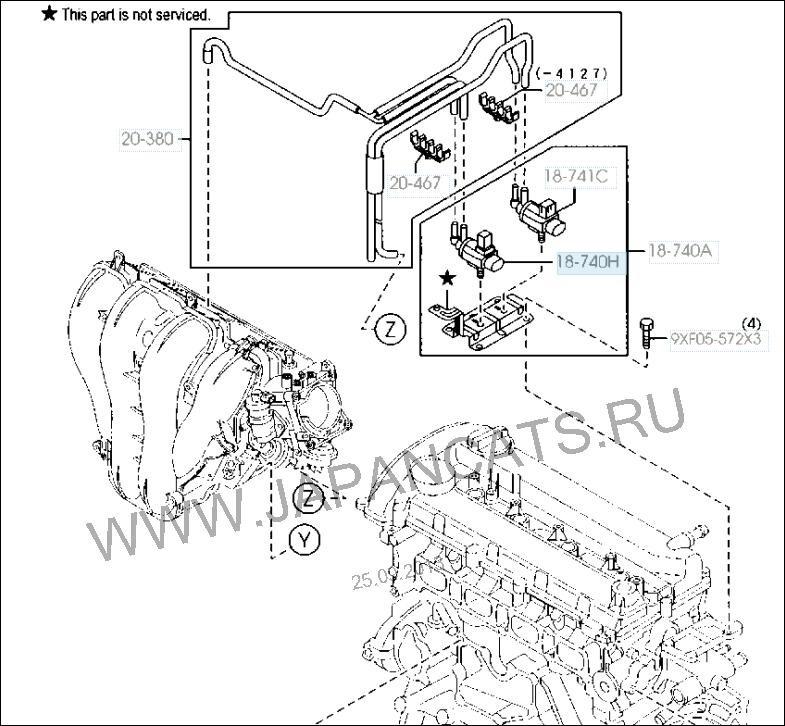 Электромагнитный клапан (ошибка P0661) — бортжурнал Mazda