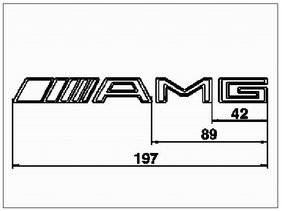 AMG метки для монтажа шильдиков на C140 — бортжурнал