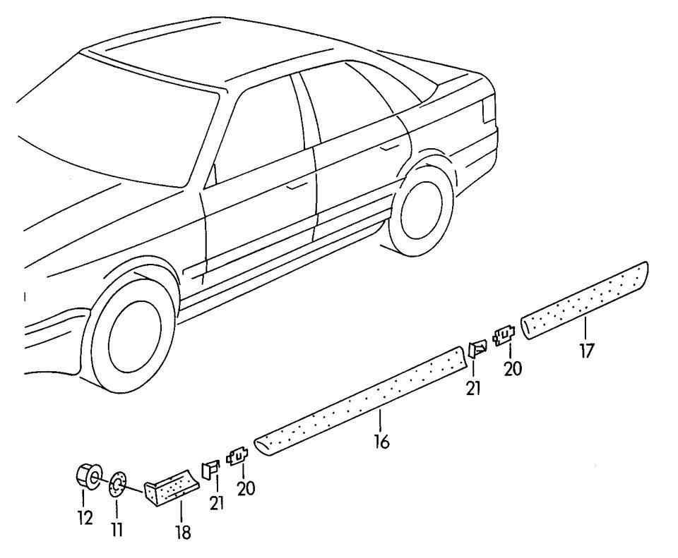Резиновые молдинги на с4 кузов. PAD88002K TYC (SIGNEDA