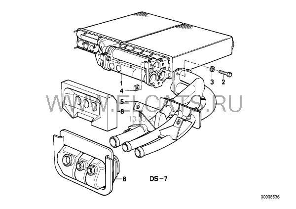 Вопрос по радиатору отопителя — BMW 5 series, 2.0 л., 1988