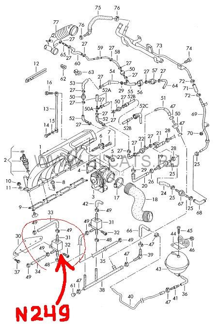 Как проверить N249 и N75 ? a4 b6 1.8t — бортжурнал Audi A4