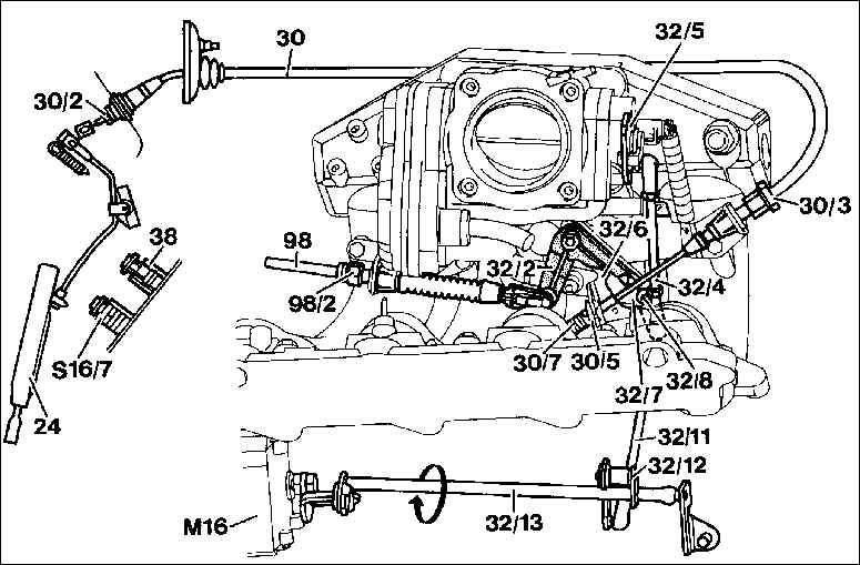 Замена проволочного троса газа W202 — бортжурнал Mercedes
