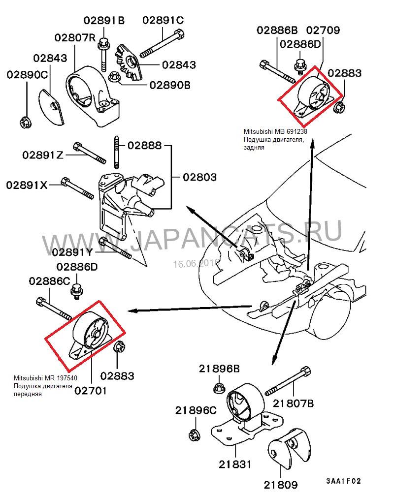 Закуп для двигателя 4G93-G-85 — бортжурнал Mitsubishi