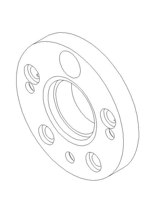 Колесные проставки с 4*114,3 на 5*114,3 (чертежи