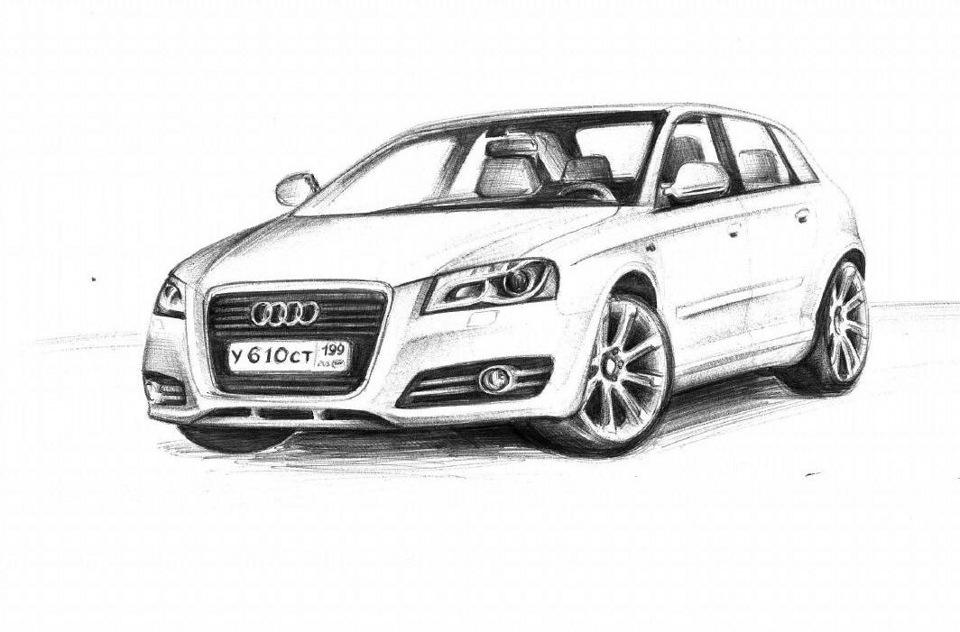 Рисунок Audi A3 Sportback — бортжурнал Audi A3 Sportback 1