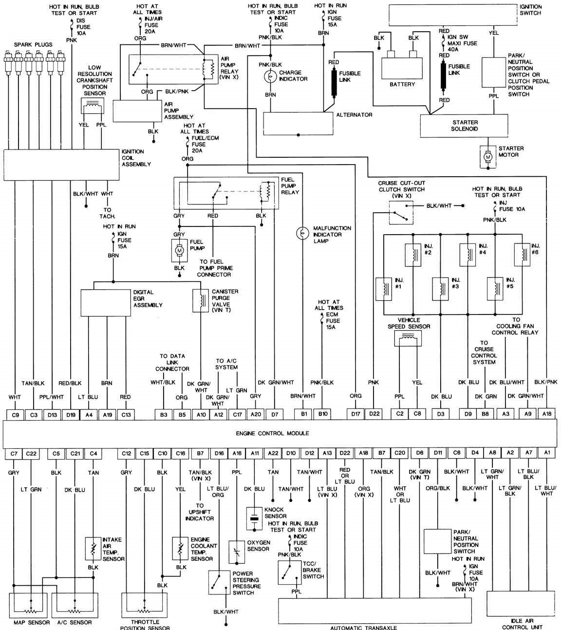 Sample diagram в основном на LQ1 3.4. — logbook Pontiac