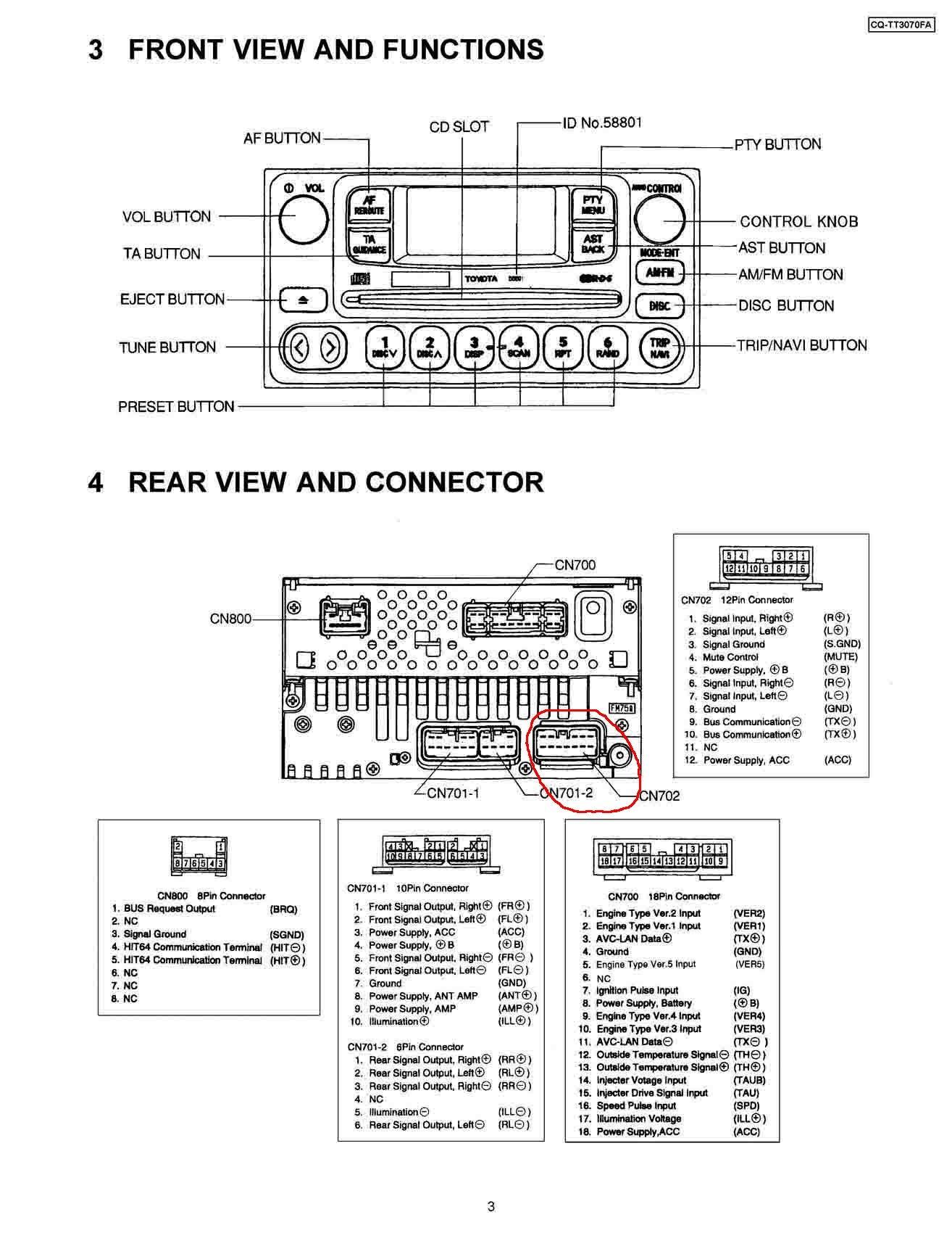 toyota fujitsu ten 86120 wiring diagram 2006 silverado bose radio mp3 в штатную магнитолу  бортжурнал rav4 black
