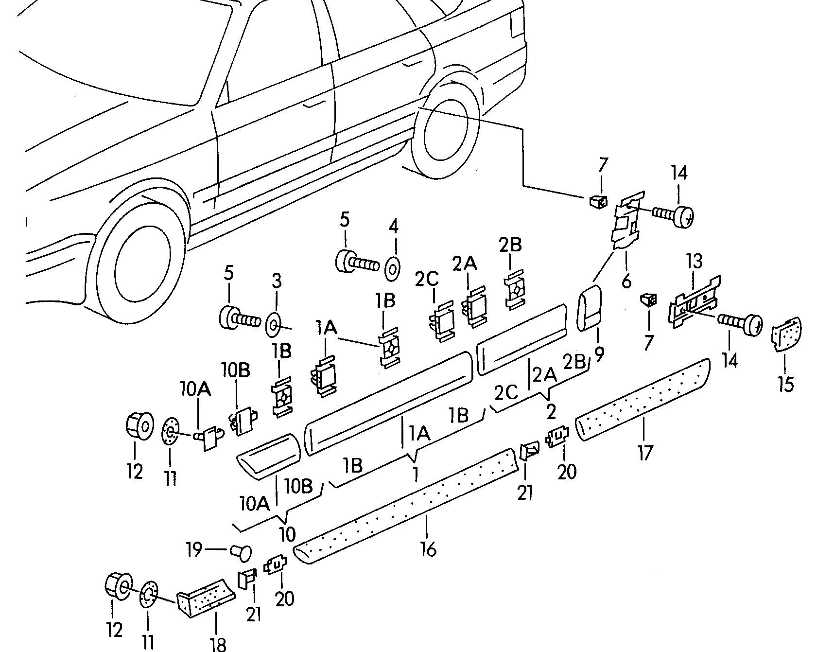 Ремонт нижних молдингов Ауди С4. — logbook Audi 100 Avant