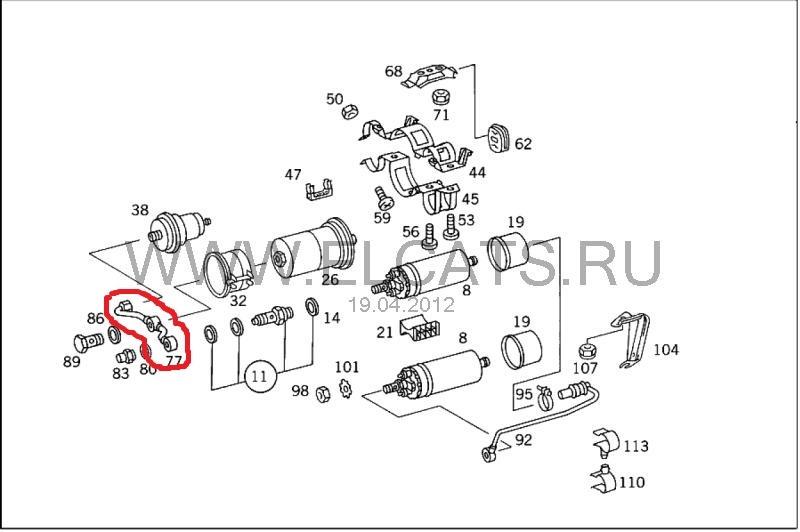 Система охлаждения + обратный клапан бензонасоса
