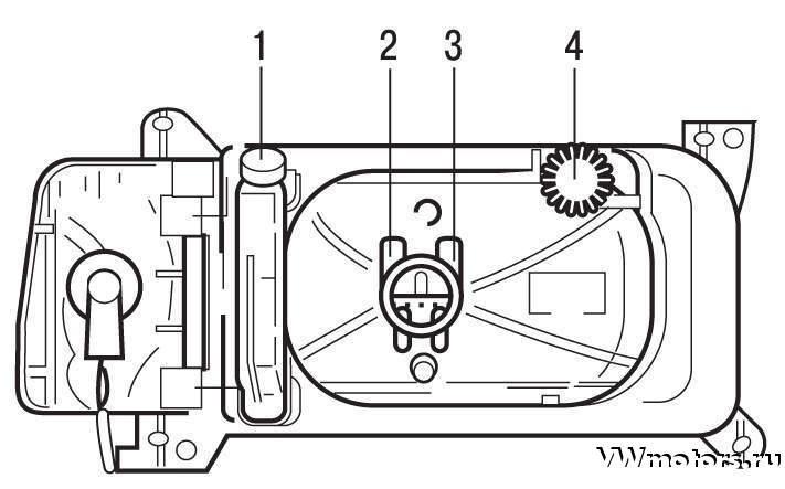 Adjustment and adjustment of headlights VW Pasat В3 / В4