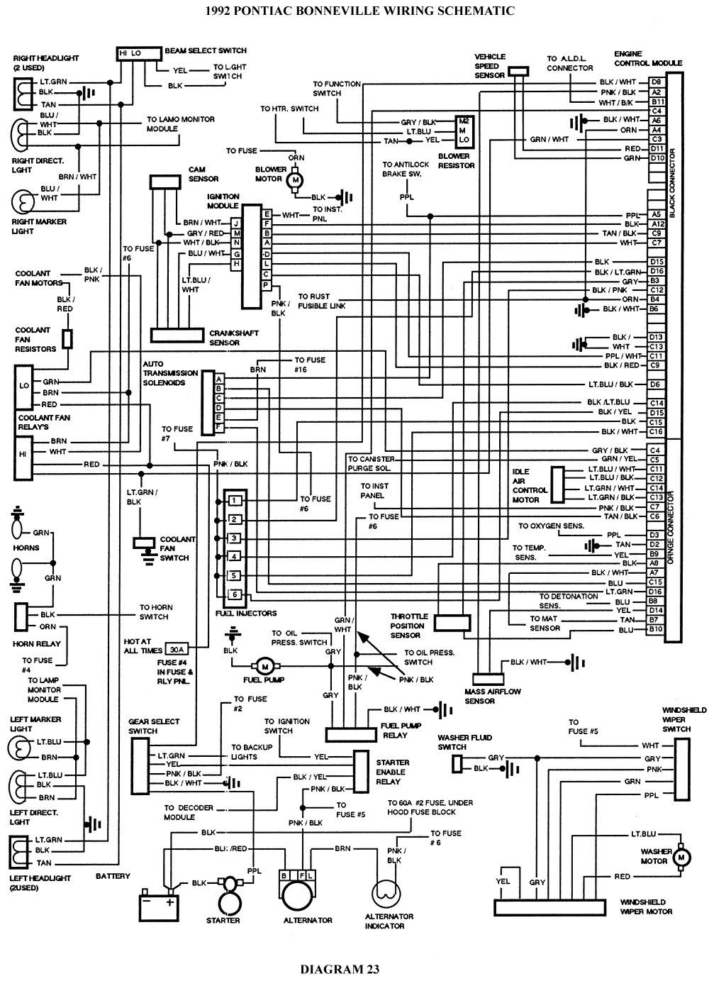 Электро-схема для Pontiac Bonneville 8-е поколение. — DRIVE2