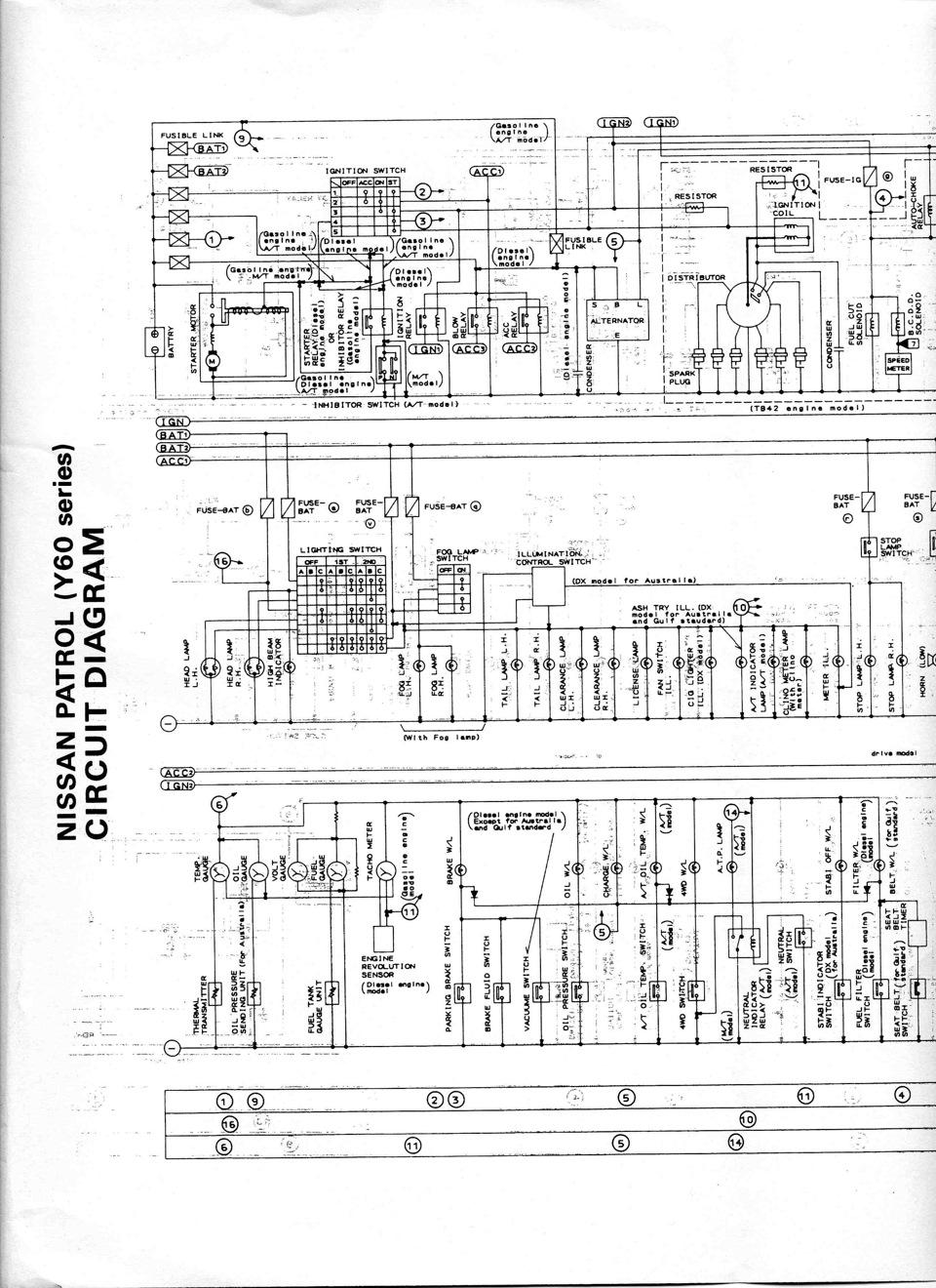 Электрическая схема на Nissan Patrol Y60 — 4WD58 на DRIVE2