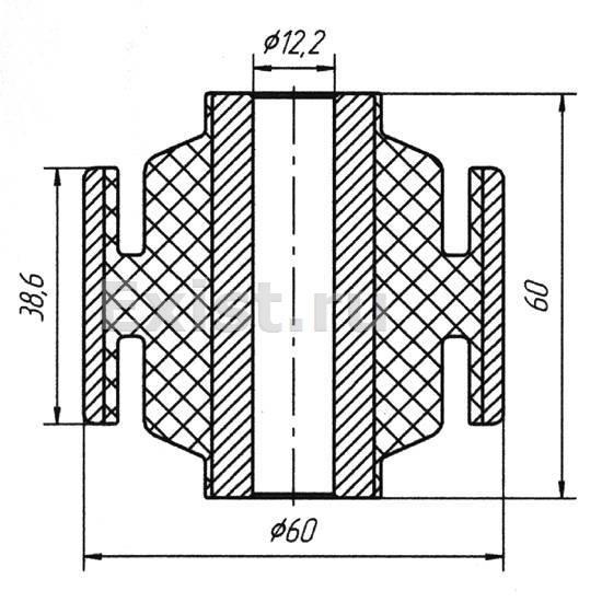 Сайлентблоки задней балки — Nissan Almera Classic, 1.6 л