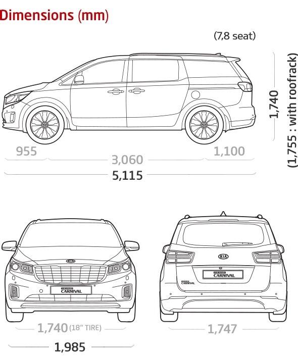 Размеры авто — бортжурнал KIA Carnival 2015 года на DRIVE2