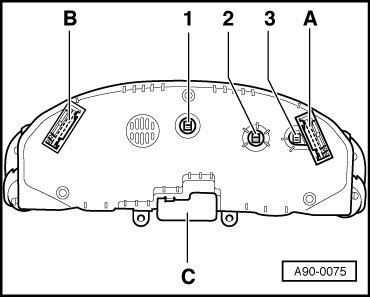 Назначение контактов приборной панели (1998-1999