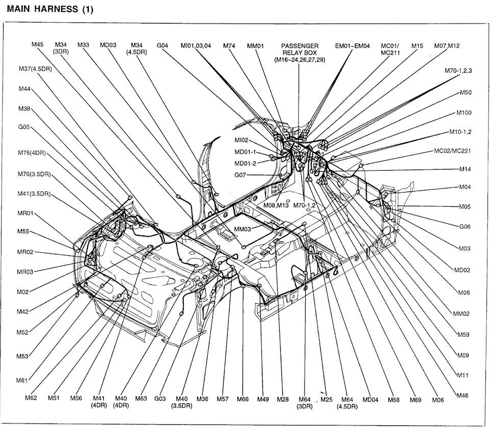 Схемы жгутов и колодок — pt2 — Hyundai Accent, 1.5 л