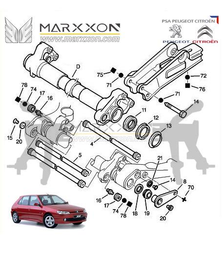 Peugeot Citroën-scheme rear axle — DRIVE2
