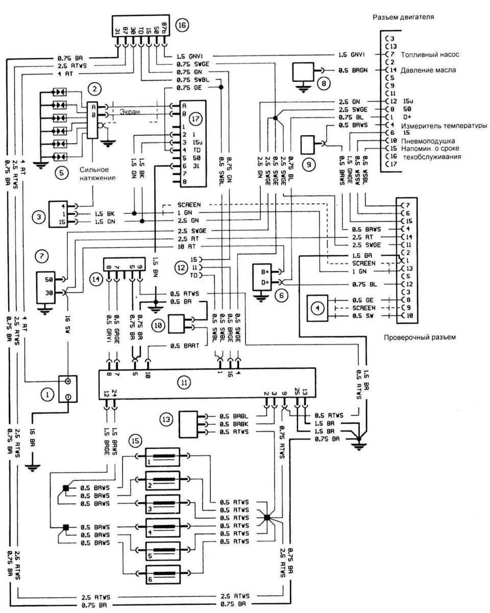 pinouts wiring diagrams BMW E30 / E28 m20b20 l-jetronic