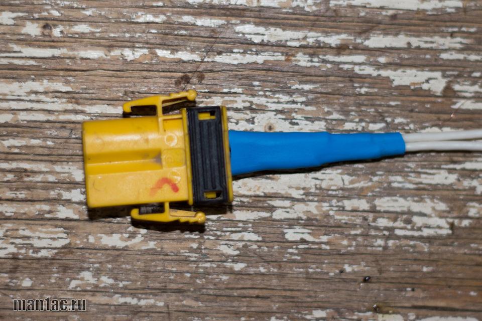 8. И усаживаем 10 мм термоусадку на оба провода