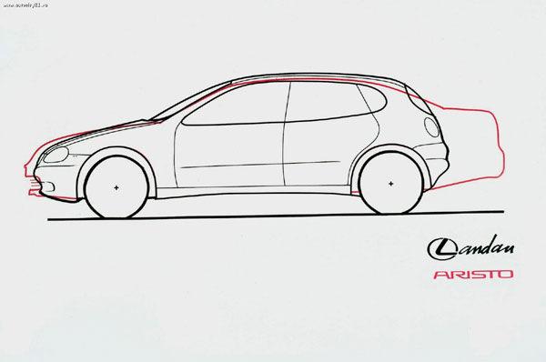 Неизданное/Полноприводный хетч с мотором V8 — Lexus Landau