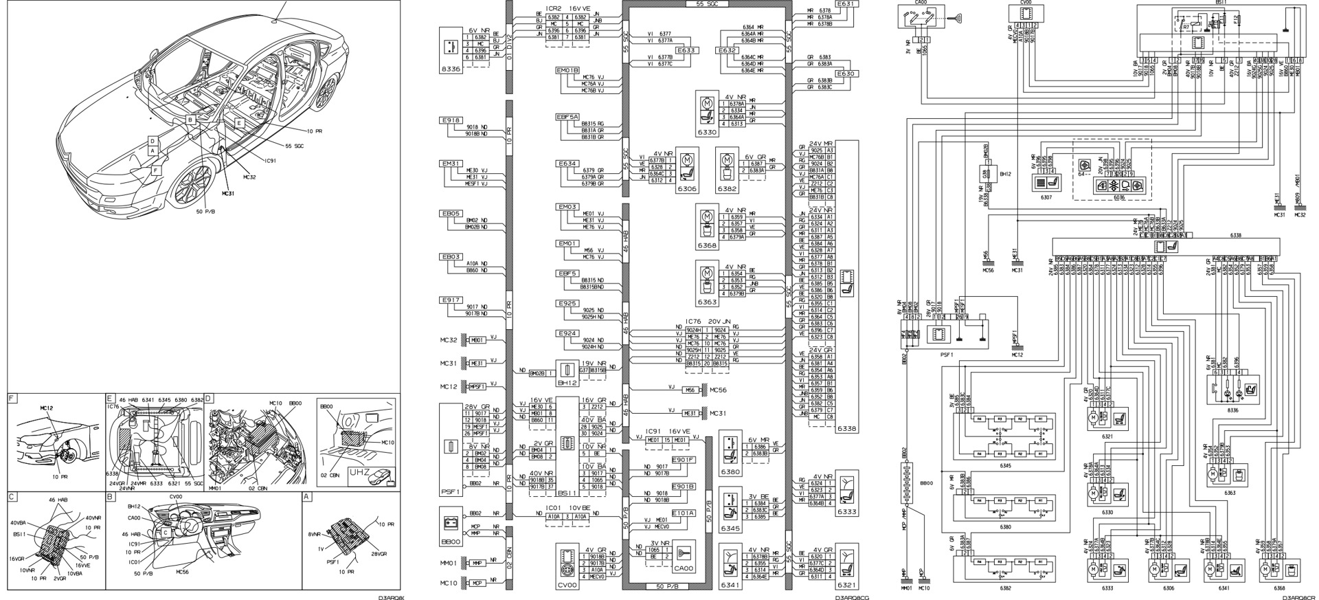 wiring diagram citroen c5 tourer