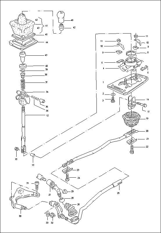 Механизм переключения передач МКПП 01Е задрал в шишки