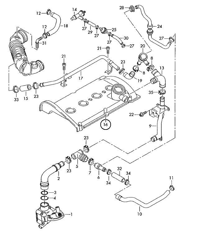 Инспекция ВКГ. Чистка форсунок. — logbook Audi A4 1,8Turbo