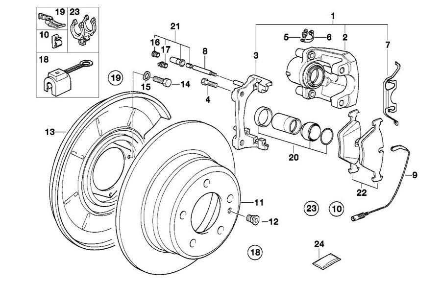 Задний тормозной механизм Е34 (в картинках) — бортжурнал