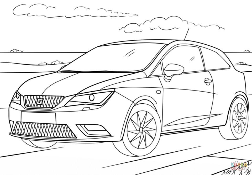 Рисунки для раскраски. Leon 2 и Ibiza. — Сообщество «SEAT