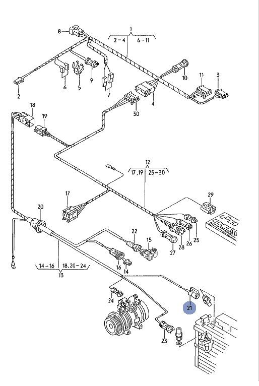 Установка кондиционера Audi 80, часть 1 (техническая