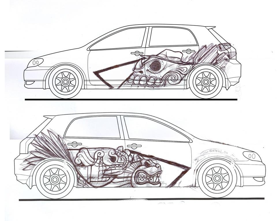 №14 автовинил — Toyota Corolla Runx, 1.5 л., 2003 года на