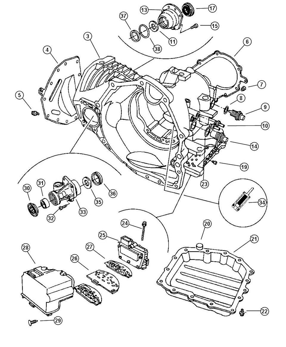 Automatic transmission Chrysler A604 (40TE, 41TE