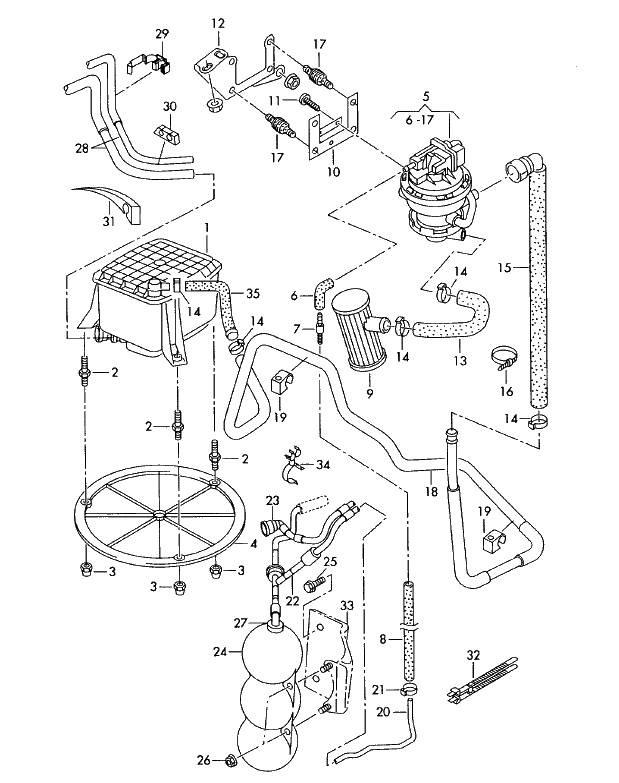 EVAP, absorber, valve N80 — REMOVAL! — logbook Audi A4