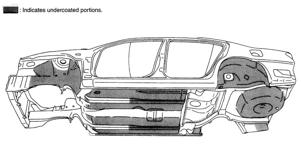 Причины коррозии — Nissan Maxima QX, 3.0 л., 2003 года на