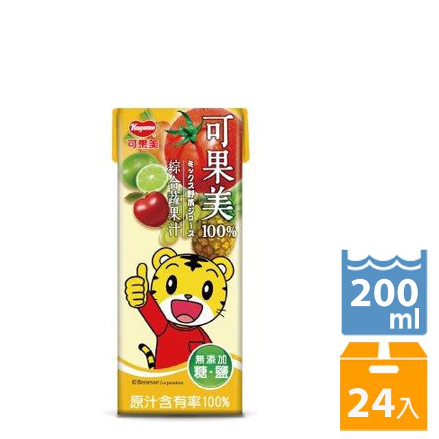 可果美蕃果園 100%綜合蔬果汁200ml-24入 - PChome 24h購物