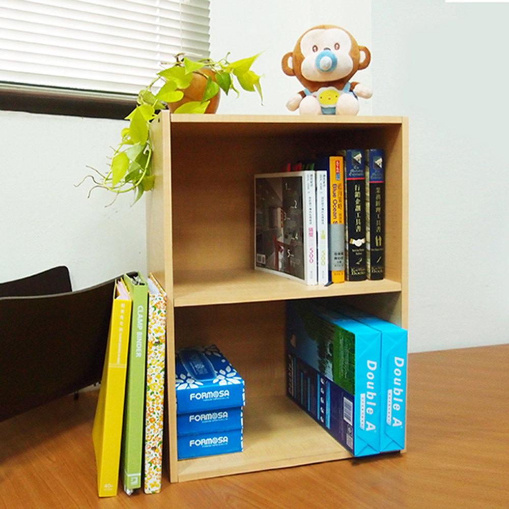 【樂活家】DIY組合收納層櫃/2層/二層空櫃/木紋色 - PChome 24h購物